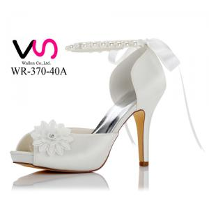 WR-370-40A 10cm Platform Bridal Shoes With Pearls straps