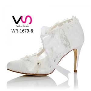 WR-1679-8 Lace Bow Elegant Wedding Shoes