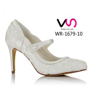 WR-1679-10 Ivory Color Lace Pump Wedding Bridal Shoes