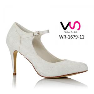 WR-1679-11 9cm Heel Height Ivory color Lace Wedding Shoes Bridemain shoes