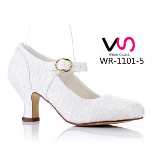 WR-1101-5 6cm Heel Height Ivory Color Bridal Shoes