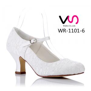 WR-1101-6 Nice Lace 6cm Heel Height Vintage Mary-Jane Bridal Shoes Wedding Shoes