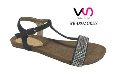 Women Sandals Shoes  with diamond Gladiator Thong Flip Flops T Strap Flat sandals