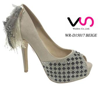 Womens Fashion High Heels Platform Feather Fringes Sexy Stiletto shoes