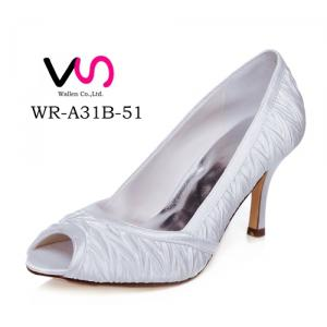 WR-A31B-51 8cm Heel Height Peep Shoe Toe Open Shoe Toe Elegant Style Bridal Shoes Made in China