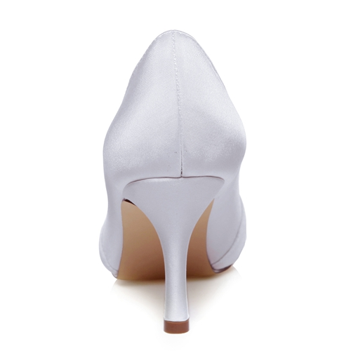 WR-A31B-52 8cm Ivory Color Peep Shoe Toe Delicated Style Lace Material Women Bridal Shoe Wedding Shoe