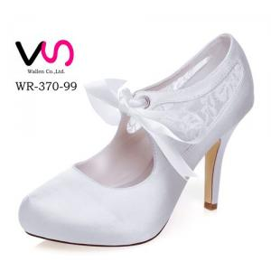 WR-370-99 Lace Pump Bridal Shoes with Inside Platform with 10cm heel