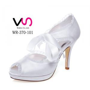 WR-370-101 Cheap Bridal Shoes with 10cm Heel and Platform