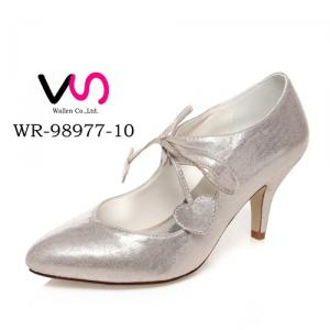 WR-98977-10 7.5cm Heel Height Light Gold Color Elegant Style Women Bridal Shoes