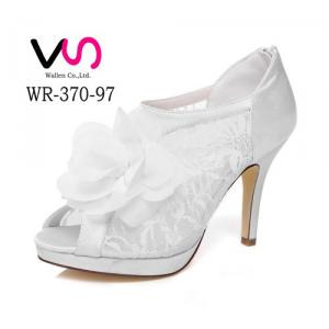 WR-370-97 Lace Bridal Shoes with 10cm Heel Height and Platfrom Bootie Wedding Shoes
