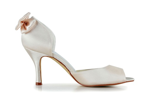 Dyeable satin handmade bridal shoes wholesale